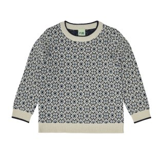 <img class='new_mark_img1' src='https://img.shop-pro.jp/img/new/icons23.gif' style='border:none;display:inline;margin:0px;padding:0px;width:auto;' />【30%OFF】FUB「Snow Blouse (Ecru/Dark Navy)」2020-AW