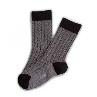 <img class='new_mark_img1' src='https://img.shop-pro.jp/img/new/icons14.gif' style='border:none;display:inline;margin:0px;padding:0px;width:auto;' />Collegien「Grain de Caviar Socks - Noir/Blanc」