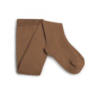Collegien「Angélique Pointelle Merino Wool Tights - Caramel」
