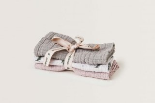 garbo&friends「Rosemary Muslin Burp Cloths 3pcs」