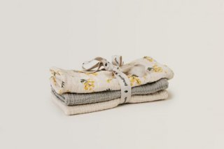 garbo&friends「Mimosa Muslin Burp Cloths 3pcs」