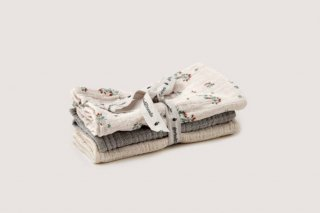 garbo&friends「Clover Muslin Burp Cloths 3pcs」