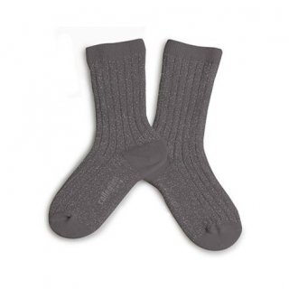 <img class='new_mark_img1' src='https://img.shop-pro.jp/img/new/icons14.gif' style='border:none;display:inline;margin:0px;padding:0px;width:auto;' />Collegien「Victoire Extra Soft Glittery Socks - Orage」