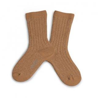 Collegien「Victoire Glittery Socks - Caramel」