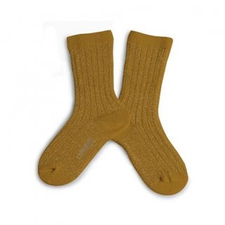 Collegien「Victoire Glittery Socks - Moutarde de Dijon」