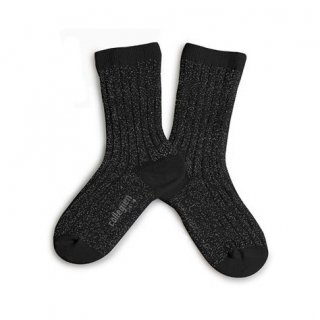 <img class='new_mark_img1' src='https://img.shop-pro.jp/img/new/icons14.gif' style='border:none;display:inline;margin:0px;padding:0px;width:auto;' />Collegien「Victoire Extra Soft Glittery Socks - Noir de Charbon」