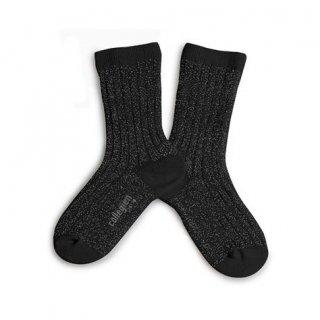 Collegien「Victoire Glittery Socks - Noir de Charbon」