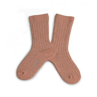 <img class='new_mark_img1' src='https://img.shop-pro.jp/img/new/icons14.gif' style='border:none;display:inline;margin:0px;padding:0px;width:auto;' />Collegien「Victoire Extra Soft Glittery Socks - Bois de Rose」