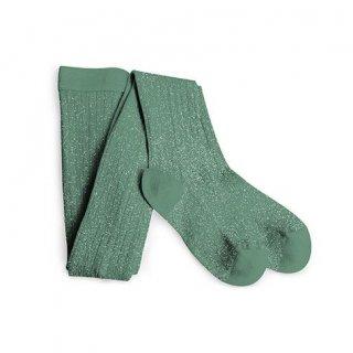 Collegien「Amélie Glittery Ribbed Tights - Celadon」