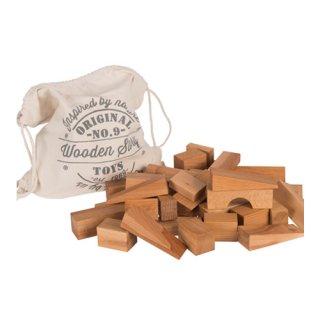 Wooden Story「ナチュラル・ブロックXL in バッグ (50pcs)」