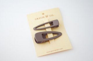 Grech & Co.「Matte Clips Set of 2 (Stone)」