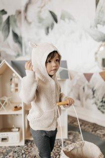 Jamie Kay「Bear Cardigan - Oatmeal Marle」 2021-Honeydew