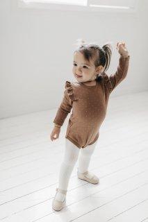 Jamie Kay「Frill Bodysuit L/S - Tiny Dots」 2021-Honeydew