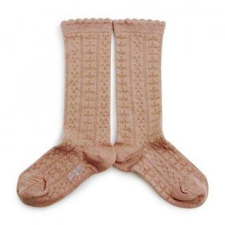 Collegien「Juliette Pointelle Knee High Socks - Vieux Rose」
