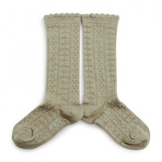 <img class='new_mark_img1' src='https://img.shop-pro.jp/img/new/icons56.gif' style='border:none;display:inline;margin:0px;padding:0px;width:auto;' />Collegien「Juliette Pointelle Knee High Socks - Aigue Marine」