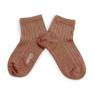 <img class='new_mark_img1' src='https://img.shop-pro.jp/img/new/icons14.gif' style='border:none;display:inline;margin:0px;padding:0px;width:auto;' />Collegien「Antoinette Lightweight Pointelle Summer Socks - Praline de Lyon」
