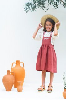 <img class='new_mark_img1' src='https://img.shop-pro.jp/img/new/icons14.gif' style='border:none;display:inline;margin:0px;padding:0px;width:auto;' />KOKORI「SOPHIA DRESS (TERRACOTTA)」2021-SS