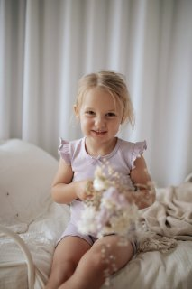 <img class='new_mark_img1' src='https://img.shop-pro.jp/img/new/icons14.gif' style='border:none;display:inline;margin:0px;padding:0px;width:auto;' />Jamie Kay「Summer Pajama - Soft Lilac」Lily of the Valley Collection