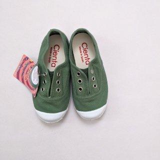 Cienta「Deck Shoes (Green.h)」