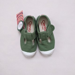 Cienta「T Strap Shoes (Green.h)」