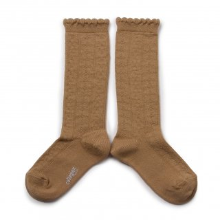 <img class='new_mark_img1' src='https://img.shop-pro.jp/img/new/icons14.gif' style='border:none;display:inline;margin:0px;padding:0px;width:auto;' />Collegien「Juliette Pointelle Knee High Socks - Caramel」