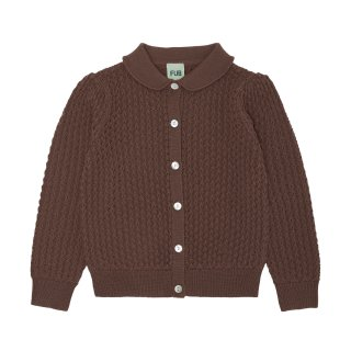 <img class='new_mark_img1' src='https://img.shop-pro.jp/img/new/icons14.gif' style='border:none;display:inline;margin:0px;padding:0px;width:auto;' />FUB「Pointelle Cardigan (Teracotta)」2021-AW