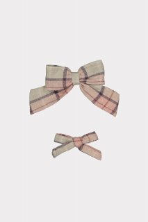 <img class='new_mark_img1' src='https://img.shop-pro.jp/img/new/icons14.gif' style='border:none;display:inline;margin:0px;padding:0px;width:auto;' />HAPPYOLOGY「Perrie Hair Bow Set (Blush Plaid)」2021-AW