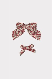 <img class='new_mark_img1' src='https://img.shop-pro.jp/img/new/icons14.gif' style='border:none;display:inline;margin:0px;padding:0px;width:auto;' />HAPPYOLOGY「Perrie Hair Bow Set (Oxford Cherry Blossom)」2021-AW