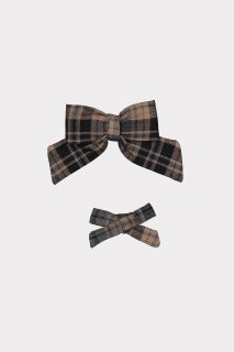 <img class='new_mark_img1' src='https://img.shop-pro.jp/img/new/icons14.gif' style='border:none;display:inline;margin:0px;padding:0px;width:auto;' />HAPPYOLOGY「Perrie Hair Bow Set (Black Plaid)」2021-AW