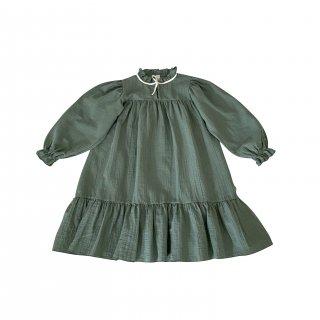 <img class='new_mark_img1' src='https://img.shop-pro.jp/img/new/icons14.gif' style='border:none;display:inline;margin:0px;padding:0px;width:auto;' />LiiLU ORGANICS「agatha dress (dark ivy)」2021-AW Drop1