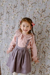 <img class='new_mark_img1' src='https://img.shop-pro.jp/img/new/icons14.gif' style='border:none;display:inline;margin:0px;padding:0px;width:auto;' />HAPPYOLOGY「Rye Pinafore Skirt (Mauve)」2021-AW