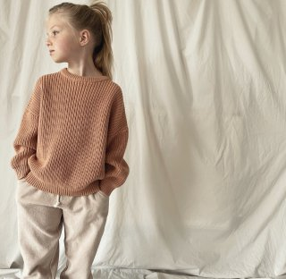 <img class='new_mark_img1' src='https://img.shop-pro.jp/img/new/icons14.gif' style='border:none;display:inline;margin:0px;padding:0px;width:auto;' />HUNTER+ROSE「Peach Aspen Chunky Jumper」2021-AW