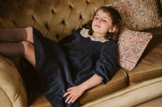 <img class='new_mark_img1' src='https://img.shop-pro.jp/img/new/icons14.gif' style='border:none;display:inline;margin:0px;padding:0px;width:auto;' />Little Cotton Clothes「Mila Dress - winter blue velvet」2021-AW