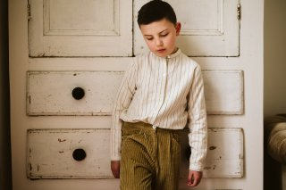 <img class='new_mark_img1' src='https://img.shop-pro.jp/img/new/icons14.gif' style='border:none;display:inline;margin:0px;padding:0px;width:auto;' />Little Cotton Clothes「Grandad Shirt - worker stripe」2021-AW