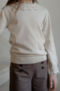 <img class='new_mark_img1' src='https://img.shop-pro.jp/img/new/icons14.gif' style='border:none;display:inline;margin:0px;padding:0px;width:auto;' />minimom「Scilla Knit Sweater (Cream)」2021-AW