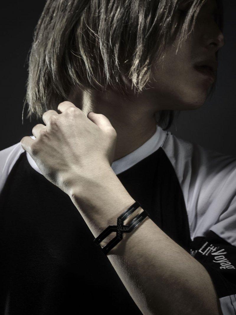 2018SPRING ×PARADOX CROSS BANGLE 【BLACK】
