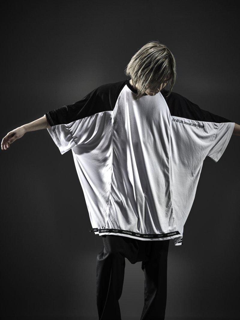 2018SPRING ×PARADOX PONCHO BIG TEE【WHITE】