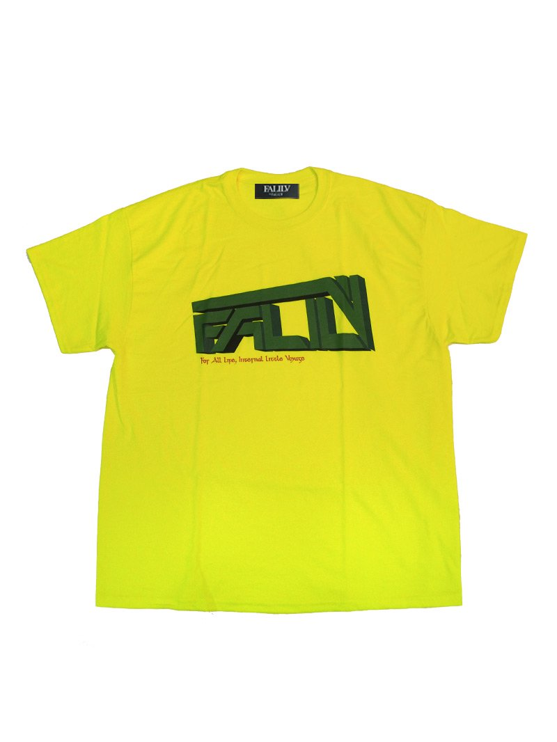 2020 SUMMER FALILV LOGO OVERSIZED TEE (YELLOW)