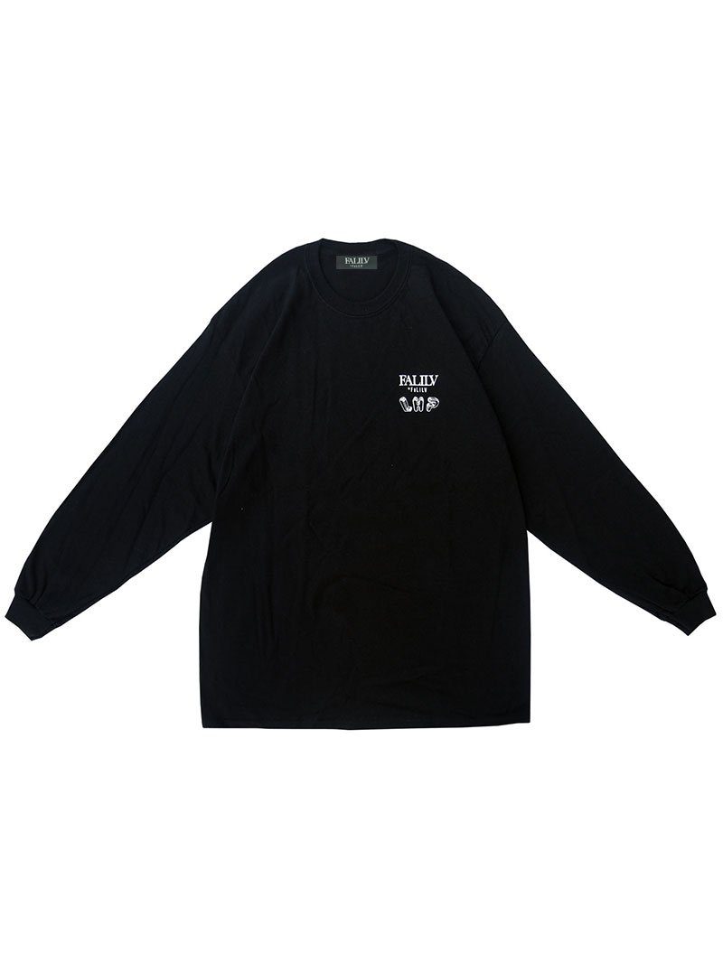 2020 WINTER ×L.H.P Shape of Trust GRAPHIC L/S TEE (BLACK)