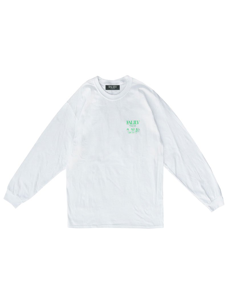 2020 WINTER ×L.H.P Shape of Trust GRAPHIC L/S TEE (WHITE)