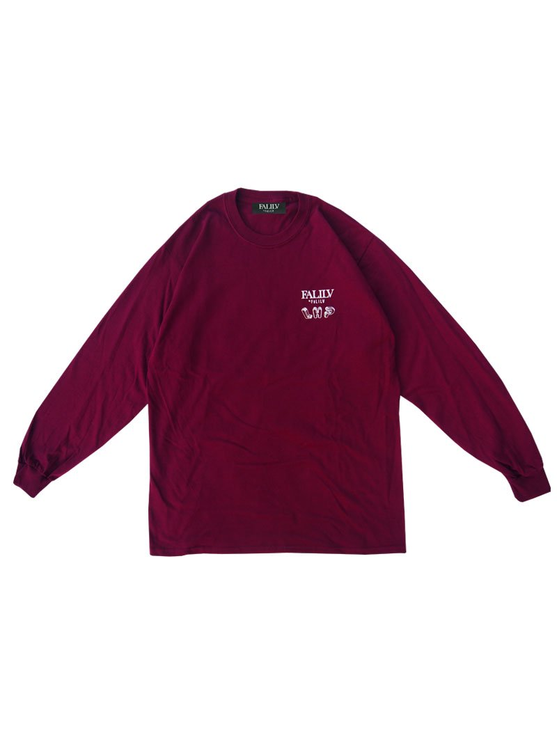 2020 WINTER ×L.H.P Shape of Trust GRAPHIC L/S TEE (BURGUNDY)