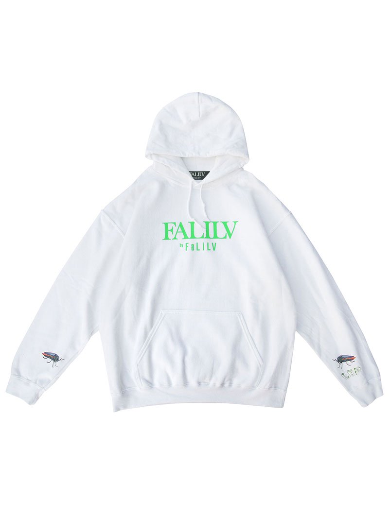 2020 WINTER ×L.H.P Shape of  Trust GRAPHIC PULL PARKA (WHITE)