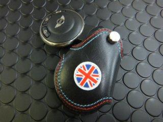 R56系 レザーキーケース ブラック&ユニオンジャック