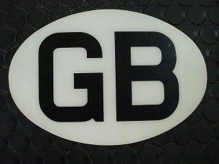 ステッカー GB プラスチック