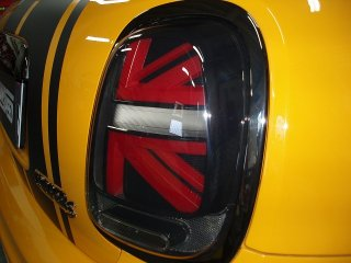 F55 56 LEDシーケンシャルウインカーユニオンジャックテールキット スモークレッド