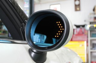 LEDウインカー付き ブルーワイドドアミラーレンズセット F5x