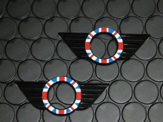 R50系 R56系 ユニオンジャック ドアロックウィング ブラック