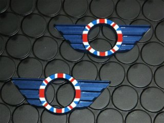 R50系 R56系 ユニオンジャック ドアロックウィング ブルー