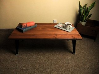 無垢材 折りたたみローテーブル 送料無料