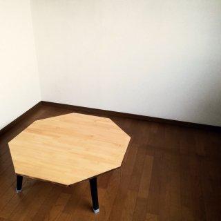 ハチカク 折りたたみローテーブル 80cm 送料無料